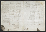 f. 206, displayed as an open bifolium with f. 203v: diagrams