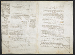 f. 216, displayed as an open bifolium with f. 217v: diagrams