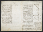 f. 217, displayed as an open bifolium with f. 216v: diagrams