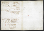 f. 233v, displayed as an open bifolium with f. 236: notes