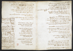 f. 235, displayed as an open bifolium with f. 234v: notes