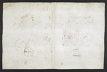 f. 262, displayed as an open bifolium with f. 257v: sketch