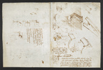 f. 262v, displayed as an open bifolium with f. 257: sketch