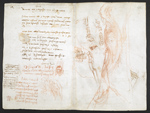 f. 271v, displayed as an open bifolium with f. 278: notes and sketches