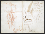 f. 275v, displayed as an open bifolium with f.274: sketches