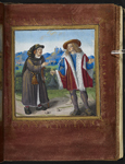 Pilgrim and a man with a bell
