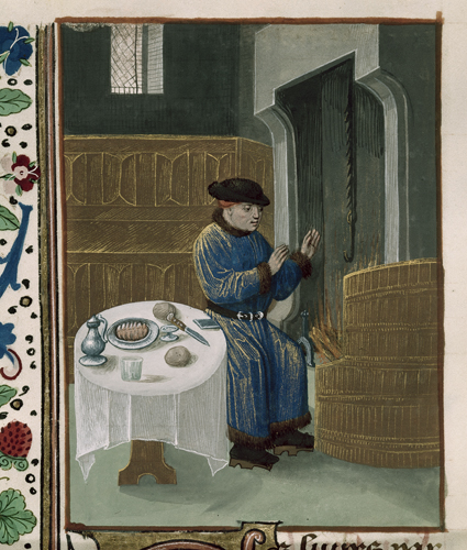Man seated at table