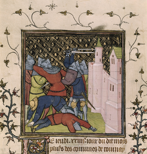 Battle before a castle in Picardy