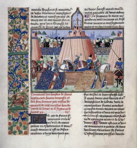 Tents and mounted knights