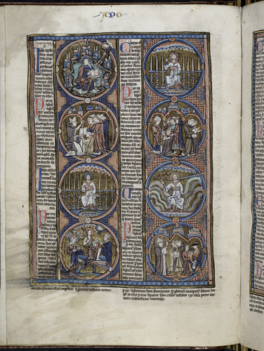 Bible scenes and moralisations