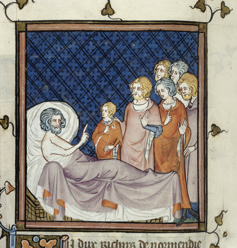 Death-bed of Duke Richard of Normandy