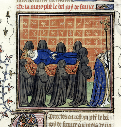 Funeral procession of Philippe le Bel