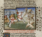 Alexander fighting with dragons