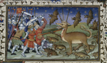 Battle with a three-horned beast