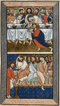 Last Supper and Christ washing Peter's feet