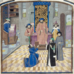 Vasca da Lucena offering the book to Charles the Bold
