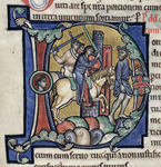 David fleeing from Absalom