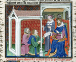 Alexander receiving a letter from Porrus