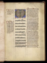 The commentary is written in a smaller script on either side and between the lines of the main text, Lansdowne MS 382, f. 3