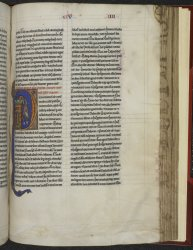 Manuscript with inscribed fore edge, Harley MS 2839, f. 184