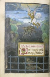 Suffrage to St Michael, Egerton MS 2045, f. 254v