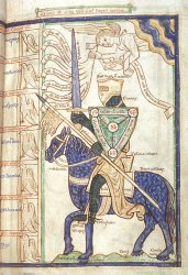 Knight of Faith, Harley MS 3244, f. 28