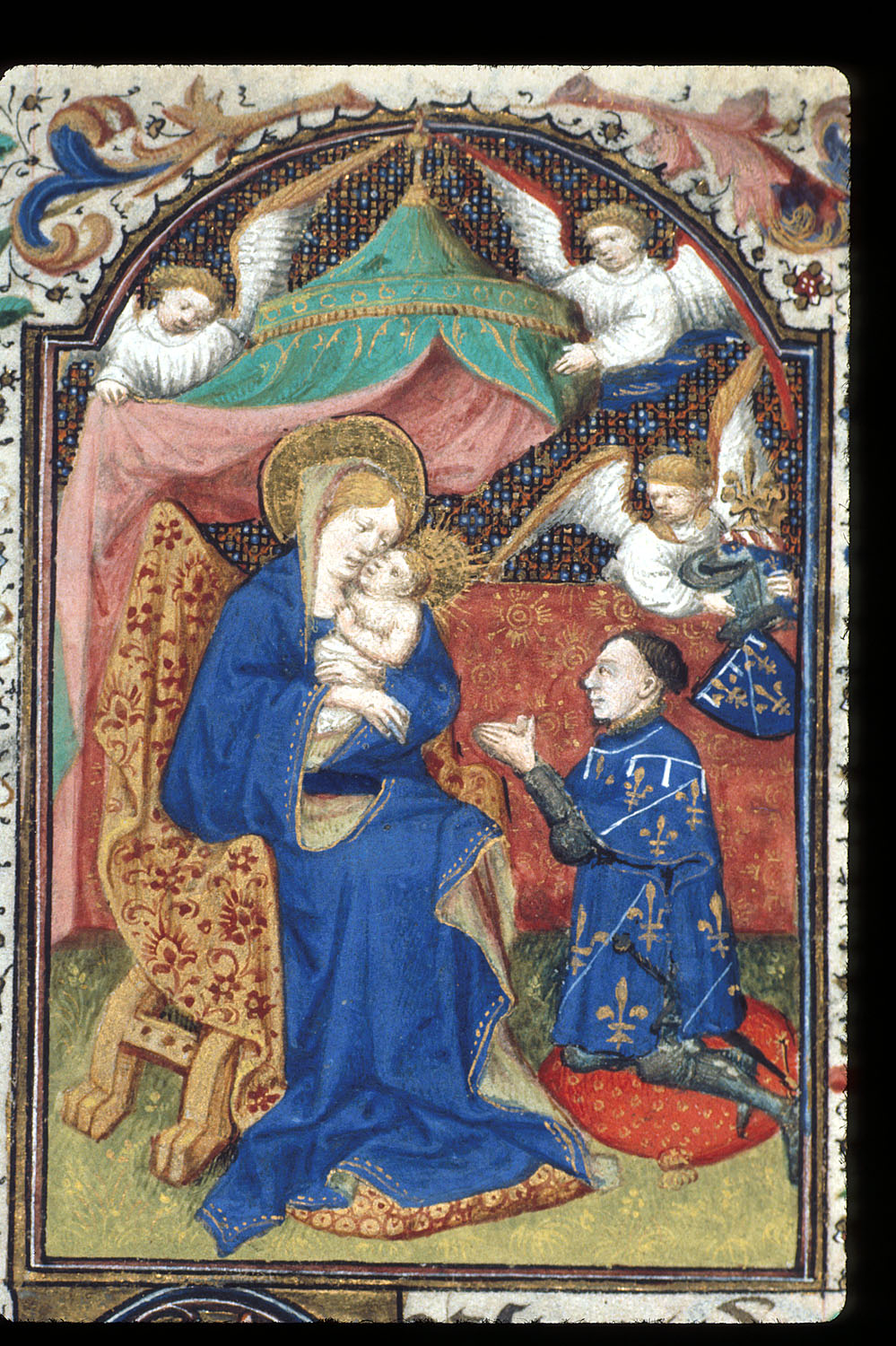 Virgin and Child with Jean Comte de Dunois