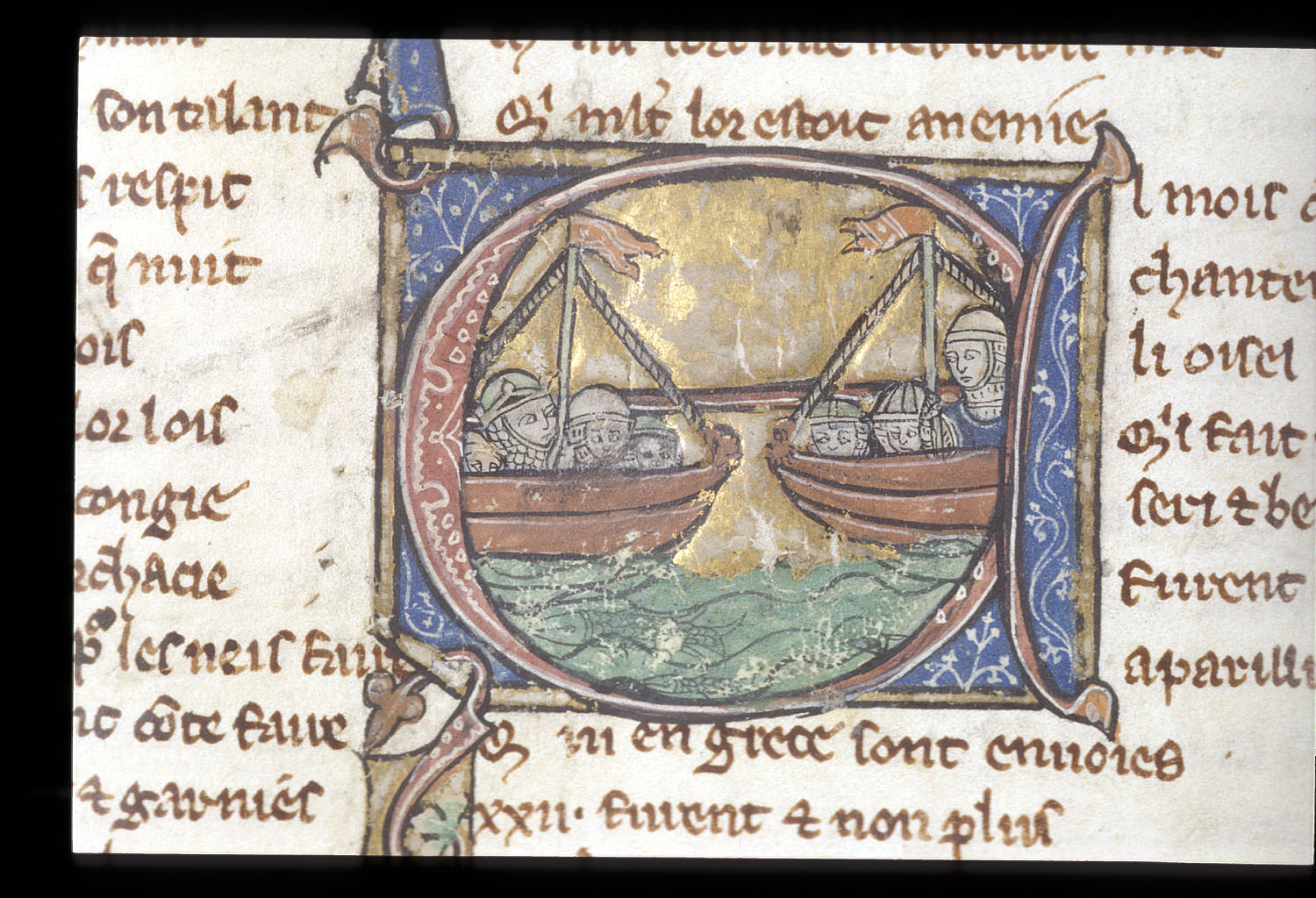 Ships of Menelaus and Paris