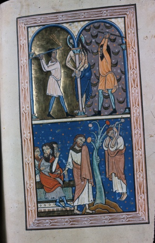 Scourging of Christ and Hanging of Judas