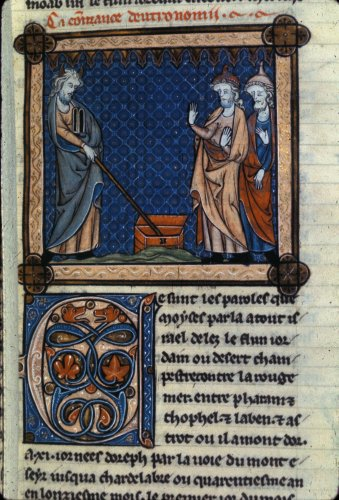 Moses giving Tablets of the Law