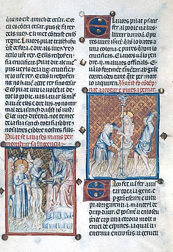 Pilate washing his hands and the Flagellation of Christ