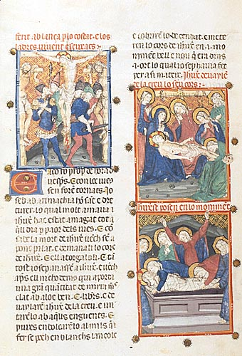The Crucifixion, the Deposition, and the Entombment