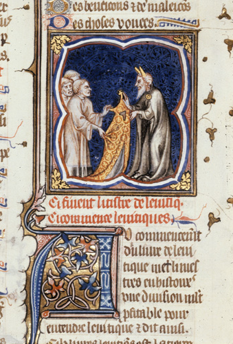 Moses in a priestly robe