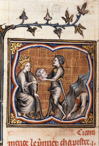 King receiving head from body.