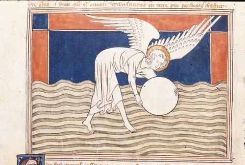 Angel with a millstone