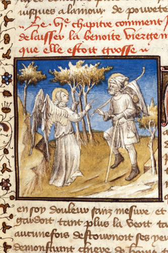 Angel appearing to Joseph