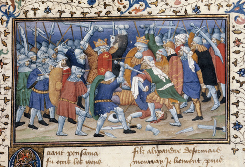Alexander defeating Pausanias