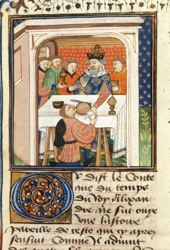 Charlemagne receiving a letter