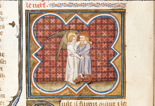 Jacob wrestling with an angel