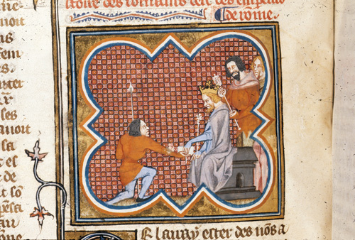 King receiving a letter