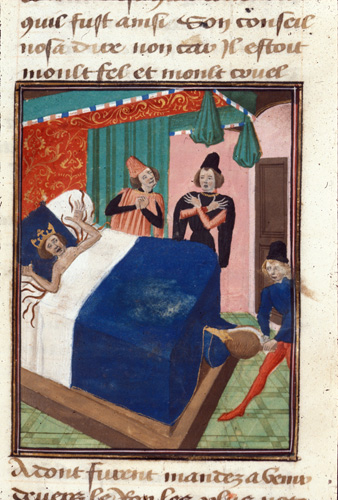 Death of the king of Portugal