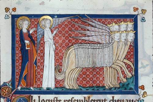 John, the angel, and the locusts
