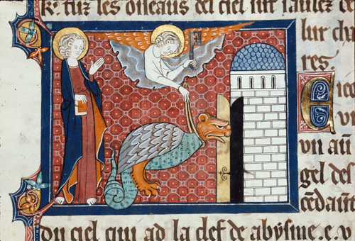 Angel and the serpent
