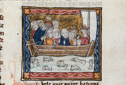 Knights in a boat