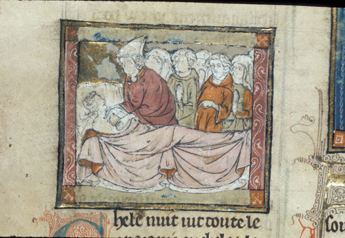 Joseph with a man on his deathbed
