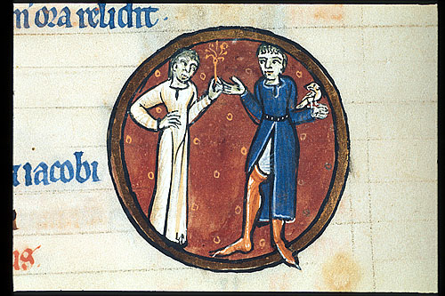 Courting scene