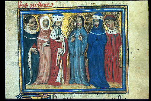 Christ with a king and queen