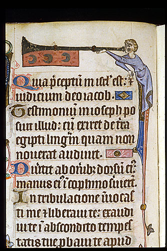 Herald with trumpet