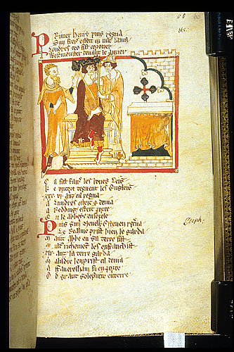 Drawing of the coronation of Henry I.