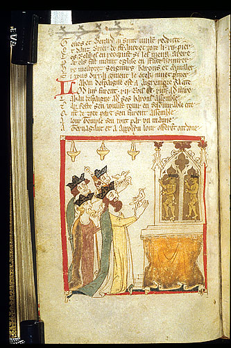 Laban and 3 kings offer birds to Tormagant and Appollyon.